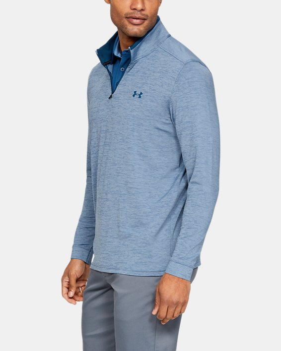 Men's UA Playoff 2.0 ¼ Zip, Blue, pdpMainDesktop image number 3